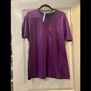 Lululemon Purple and Gray Tee Shirt
